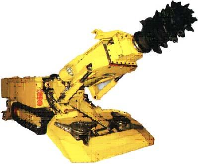 掘进机ebz55是集截割、装运和行走于一体的悬臂式似轴掘进机,适用煤机及半煤岩井下巷道的掘进。